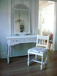 vanities shabby chic vanity table with mirror white antique