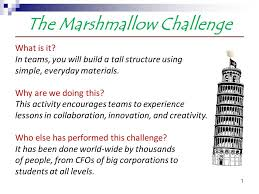 Challenge What Is It The Marshmallow Challenge Ppt