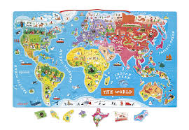 Magnetic Map Of Usa by Amazon Com Magnetic World Puzzle English Edition Toys U0026 Games