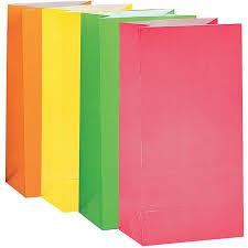 neon paper party bags 10pk walmart com