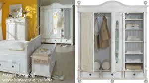 Schlafzimmer Schrank Holz Modern Landhausmöbel Romantischer Kleiderschrank In Weiß Aus Massivholz