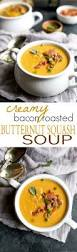 creamy bacon roasted butternut squash soup easy healthy recipes