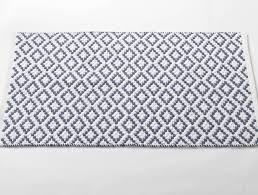 bathroom accent rugs white french blue diamond pebble rug made from 100 organic cotton