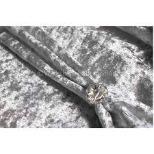Crushed Velvet Fabric For Curtains Geneva Crushed Velvet Upholstery Fabric In Silver Colour