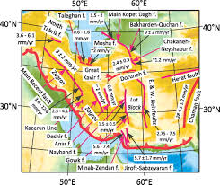 United States Fault Lines Map by Major Intracontinental Strike Slip Faults And Contrasts In