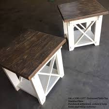 end table side table x style country side table x side