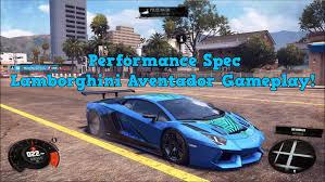 spec lamborghini aventador the crew lamborghini aventador performance spec gameplay 1080p