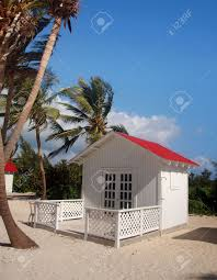 Small Bungalow Small Bungalow On Remote Caribbean Island Stock Photo Picture And