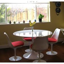 White Pedestal Dining Table Dining Room Beautiful Eero Saarinen Dining Set For Dining Room