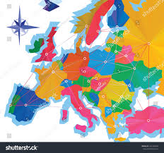 Europe Map With Capitals by Abstraction Infographics Europe Capitals Europe Map Stock Vector