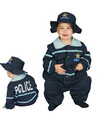 Infant Bunting Halloween Costumes Police Officer Baby Costume Costumelook