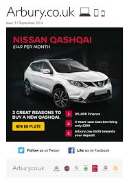 nissan finance uk register arbury nissan newsletter issue 3 2016 by denfieldadvertising issuu