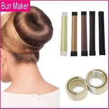 donut bun diy hair donut bun maker 2 bundle pack