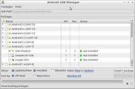 what is android sdk android sdk manager santoku linux