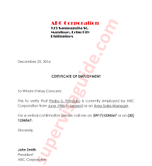 Employment Certification Letter Sample Visa Supporting Documents For Visit Visa To Canada