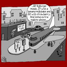 funny flight announcements cartoons