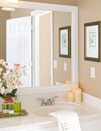 Wood Framed Bathroom Mirrors by White Wood Framed Bathroom Mirrors Home