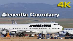 cemetery of airplanes at spain 4k youtube