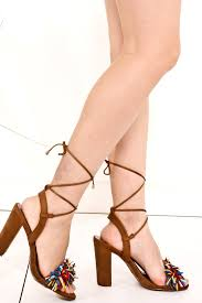 multi ankle tie lace up sandal chunky heels women u0027s heels