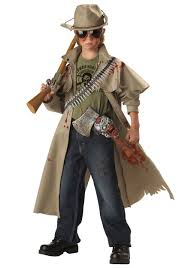 scary kid halloween costume ideas kids scary zombie hunter costume boys zombie hunter costumes