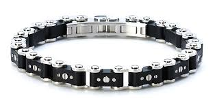black chain bracelet images Standard black 39 new york 39 bicycle link bracelet icelink jpg