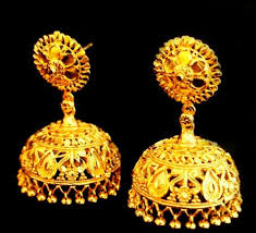 buy jhumka earrings online buy the ethnic dipika s chennai express gold forming