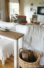 Wood Sofa Table Design The Easiest Diy Reclaimed Wood Sofa Table City Farmhouse