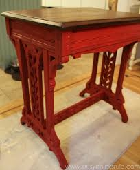 Chalk Paint Desk by Old Carved Desk Transformed With Chalk Paint Red Theme Tour