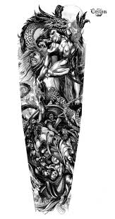 awesome sleeve tattoo tattoo design artwork custom tattoo design идеи pinterest