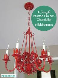 Painted Chandelier Nikkis Nacs 31 Days Of Simple Painted Projects The Chandelier