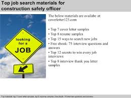 construction safety officer cover letter