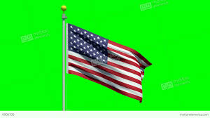Green Day Flag Waving American Flag On A Green Screen Stock Animation 6906706