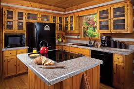 black kitchen appliances with oak cabinets outofhome