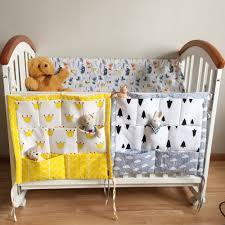 baby cot bed hanging storage bag crib organizer toy diaper pocket