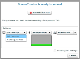 Screen Toaster Screentoaster Records Screencasts And Audio No Software Required