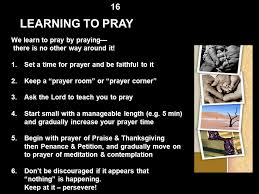 the dynamics of christian prayer part three by rev fr george