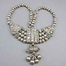 large silver beads necklace images Old ethnic jewellery goodoldbeads jpg