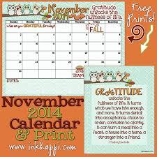november 2014 calendar is here inkhappi