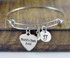 Personalized Bangle Bracelet Personalized Bracelet For Aunt Aunt Bracelet Gift For Aunt New