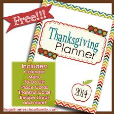 free printable thanksgiving planner money saving