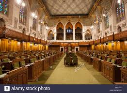 the house of commons inside parliament hill in ottawa ont on