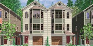 Row House Front Elevation - narrow row house plans duplex house plans two master suites