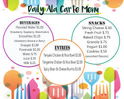 meal menus food service department ccsd