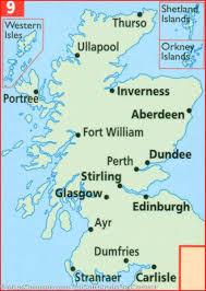 map of scotland and map of scotland aa publishing mapscompany