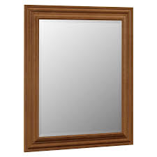 Bathroom Mirrors Lowes by Shop Villa Bath By Rsi 29 In X 35 25 In Canyon Rectangular Framed