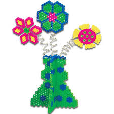 vase of flowers perler beads