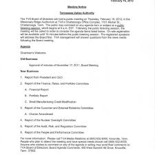 committee report template in the boro news and commentary tva board meeting