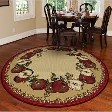 Apple Kitchen Rugs Orian Apple Border 63 Rug Sand House And Home Decor