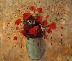 Vase With Red Poppies Artist Redon U201cvase Of Poppies By Odilon Redon Size 65 4x54 6 Cm