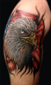 flag eagle tattoo art and designs